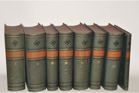 """""""Latvju dainas"""", 6 sējumi 8 grāmatās, sakopojis Kr.Barons, 1922 g., Valtera un Rapas A/S apgāds, Rīga"""