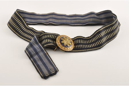 a belt, The army of Latvia, 52 cm, Latvia, the 30ties of 20th cent.