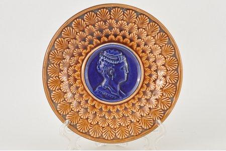 декоративная тарелка, Виноградов, Российская империя, 2-я половина 19-го века, 17.5 см