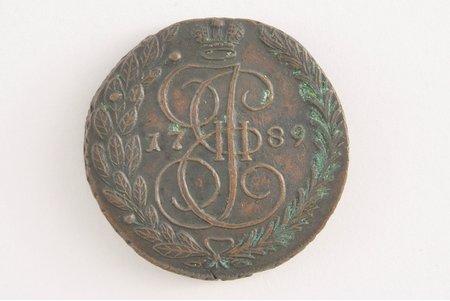 5 копеек, 1789 г., ЕМ, Российская империя, 59.78 г, Ø 43x0.4 мм