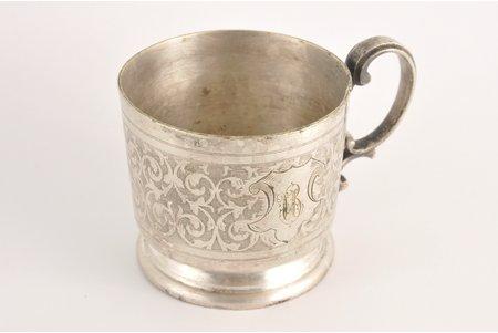 "tea glass-holder, ""Warszawa"", ""Fraget"", Poland, the beginning of the 20th cent., height 7 cm"