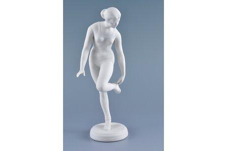figurine, A Gymnast, bisque, Riga (Latvia), USSR, Riga porcelain factory, the 60-70ies of 20th cent., 26 cm