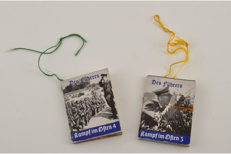 a pocket book, 2 pcs., Third Reich, 5x3.5 cm, Germany, the 30ties of 20th cent., the 40ies of 20th cent.