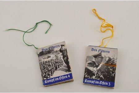 карманная книжка, 2 шт., 3-ий Рейх, 5x3.5 см, Германия, 30-е годы 20го века, 40-е годы 20го века