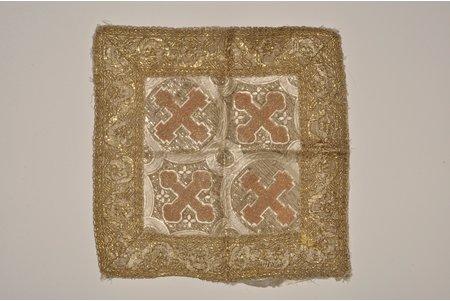 палица, вышивка, Российская империя, 19-й век, 35x35 см