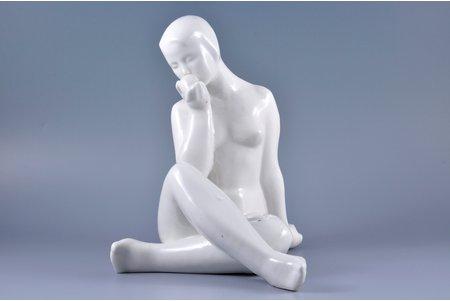 figurine, Lunch, porcelain, Riga (Latvia), USSR, sculpture's work, molder - Rimma Pancehovskaya, the 50ies of 20th cent., 25 cm