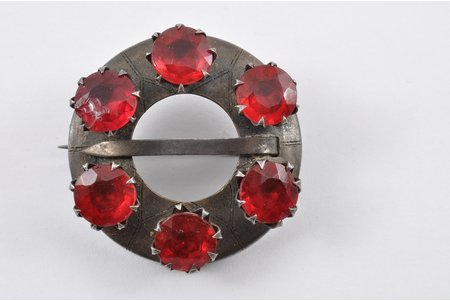 a brooch, sakta, silver, 875 standart, 8.90 g., the item's dimensions Ø 3,2 cm, the 20-30ties of 20th cent., Latvia