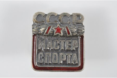 badge, Master of sports, Nr. 163113, USSR, 60-80ies of 20 cent., 23.3x 21 mm, 8.75 g