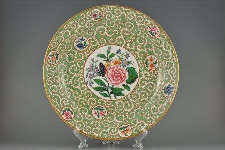dekoratīvs šķīvis, Taurenis, Impērijas Porcelāna Rūpnīca, Krievijas impērija, 19. gs. 1. puse, 39 cm