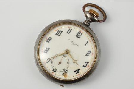 "pocket watch, ""Rob Waldman"", Latvia, the 30ties of 20th cent., Ø 46.9 mm, serviceable"