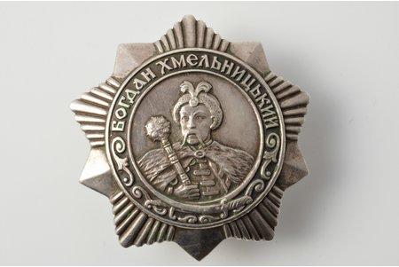 order, Order of Bogdan Khmelnitsky № 9000, 3rd class, USSR, 45x46 mm, 33.15 g