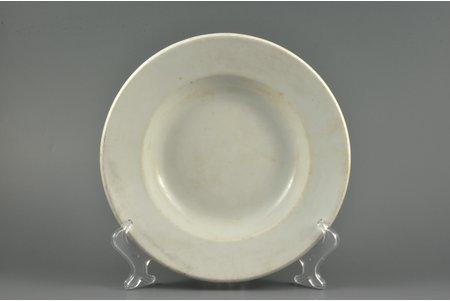 plate, Third Reich, Wafen-SS, Ø 23.5 cm, h 4.2 cm, Germany, 1941