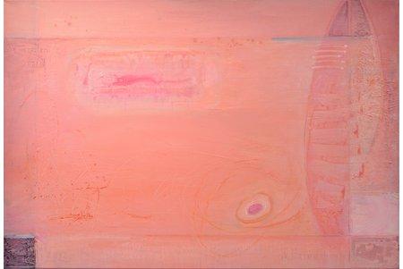 """Nikolajs Krivošeins (1960), """"Saldā dzīve"""", 2012 g., audekls, akrils, 75 x 110 cm"""
