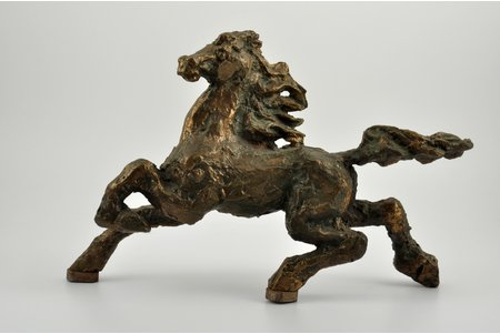 figurine, a Horse, bronze, 22.5 x 33 cm, the 2nd half of the 19th cent.