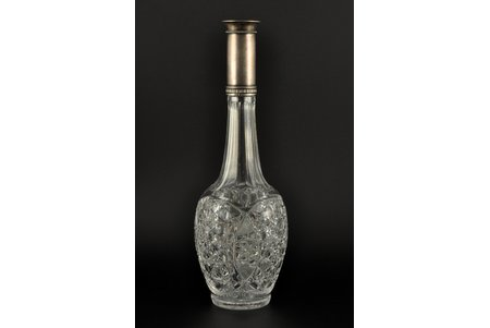 carafe, silver, 84 standart, crystal glass, 1908-1914, workshop Gashkel S. and Schick I., St. Petersburg, Russia, h = 36 cm, without cork