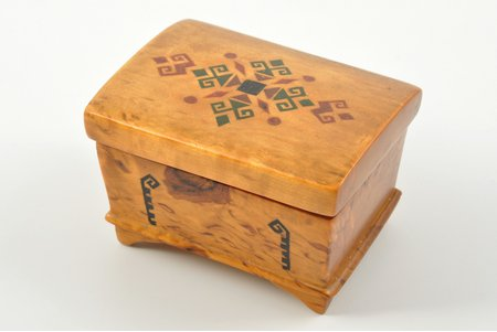 коробочка, карельская береза, 5 x 7.8 x 5.5 см