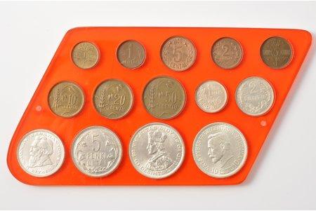 комплект монет: 1 цент-10 литов, 20е-30е годы 20го века г., Литва