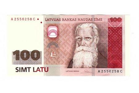 100 lats, 2007, Latvia, UNC