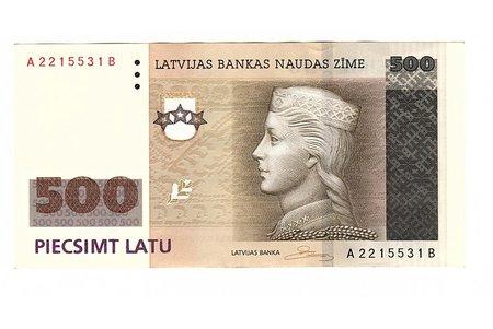 500 lats, 2008, Latvia, UNC