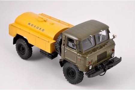 """auto modelis, GAZ 66, """"Piens"""", metāls, Krievija, ~2000 g."""
