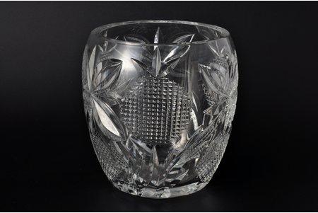 vāze, Ļeņingradas stikla mākslas rūpnīca, autors H.M. Piļd (Igaunija), PSRS, 20 gs. 60tie gadi, 16.5 cm