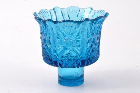 вставка для лампады, стекло, Российская империя, рубеж 19-го и 20-го веков, Ø (внутренний) 4.6 см, Ø (внешний) 8.6 см