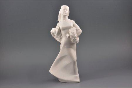статуэтка, Лиго, бисквит, Рига (Латвия), СССР, автор формы - Римма Панцеховская, 1958 г., 29.7 см