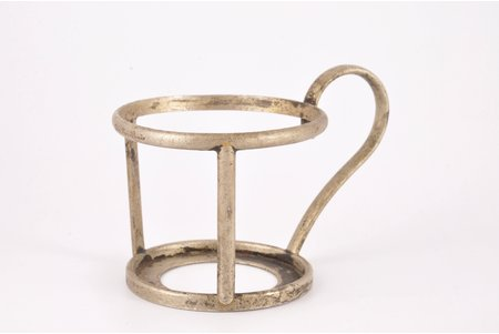 tea glass-holder, State hotel in Ķemeri, Latvia, the 20-30ties of 20th cent., Ø 6.6 cm