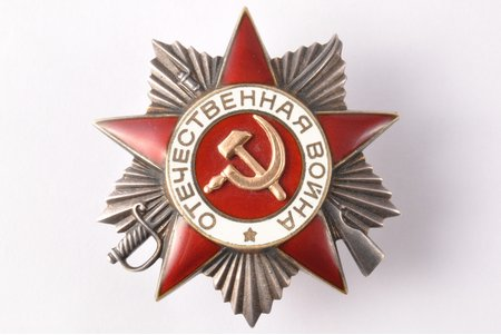order, The Order of the Patriotic War, Nº 963175, 2nd class, USSR, 40ies of 20 cent., 45.2 x 43.2 mm, 28.10 g, Moscow Mint