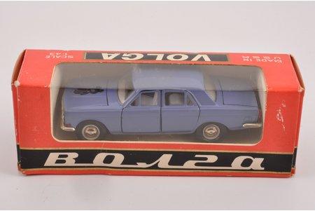 """автомодель, ГАЗ 24 Волга № А14, """"Олимпийский мишка"""", металл, СССР, 1980 г."""