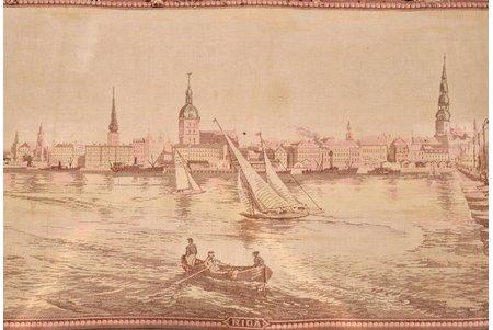 """špalera, """"Rīga"""", audums, Latvija, 20 gs. 20tie gadi, 65.5 x 185 cm"""