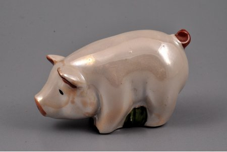 figurine, Pork, porcelain, Riga (Latvia), USSR, Riga porcelain factory, the 70-80ies of 20th cent., 4.2 cm