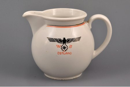 cream jug, Ostland WB, h 9.6 cm, Latvia, 1940, J.K.Jessen manufactory