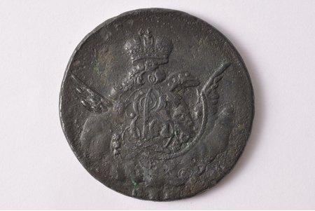 1 kopeck, 1755, SPB, copper, Russia, 17.10 g, Ø 33.7 - 34 mm, F