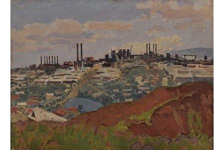 Doncovs Hermanis (1916-2001), Industriāla ainava, 1959 g., audekls, eļļa, 53 x 72.5 cm