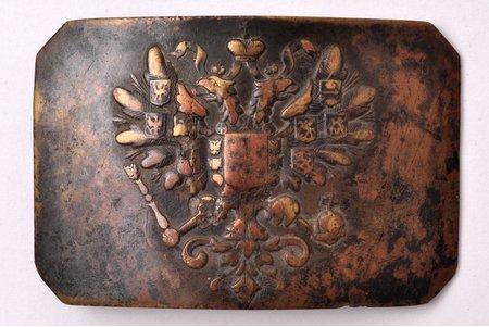 пряжка солдата Российской Империи, латунь, Российская Империя, начало 20-го века, 80.7 x 54 мм
