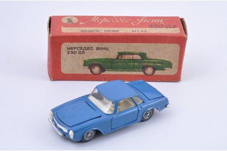auto modelis, Mercedes Benz 230 SL, metāls, PSRS