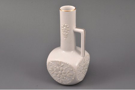 small vase, porcelain, sculpture's work, by Beatrice Karklina, Riga (Latvia), the 90ies of 20th cent., h 13.5 cm