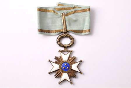 "order, the Order of Three Stars, 3rd class, silver, guilding, Latvia, the 30ies of 20th cent., 70 x 45.9 mm, ""Vilhelms Fridrichs Müller"" manufactory, 875 standard"