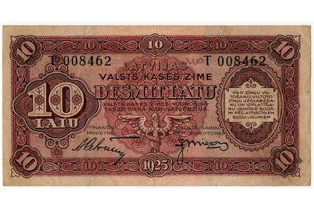 10 латов, банкнота, 1925 г., Латвия, XF