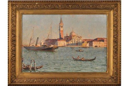 Dubovskoy Nikolay Nikanorovich (1859-1918), The Venice embankment, 1895, carton, oil, 23.6 x 35.4 cm
