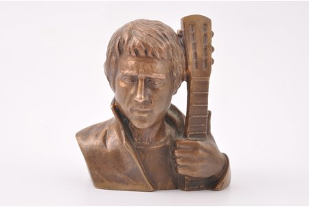 """krūšutēls, V. Visockis, bronza, h 10.5 cm, svars 896.30 g., PSRS, Ļeņingradas rūpnīca """"Monumentskuļptura"""", 1989 g."""