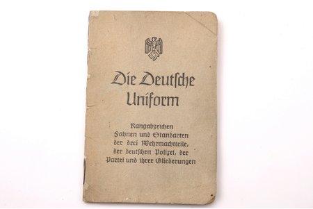 """""""Die Deutsche Uniform"""", Adolf Sponholtz Verlag, Hannovere, 16 lpp., 11.8 x 7.9 cm, 2. Pasaules kara Vācijas militārā uniforma un zīmes, 24 atsevišķas lapas ar ilustrācijām"""