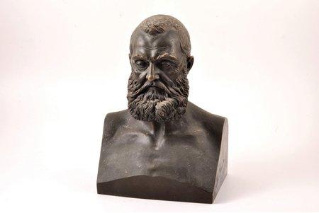 krūšutēls, skulpors M.Popovs, bronza, 25.3(h) x 17.5 x 11.5 cm, svars 4650 g., Krievijas impērija, autordarbs, 19. un 20. gadsimtu robeža