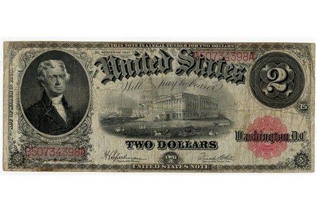 2 dolāri, banknote, 1917 g., ASV