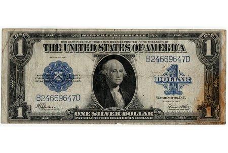 1 dolārs, banknote, 1923 g., ASV