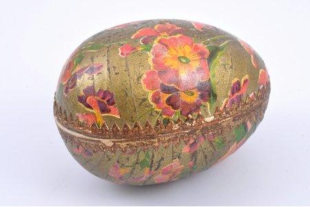Egg-Shaped Soap, Prov. A. Tombergs, Riga, in cardboard box, Latvia, 9 x 6 x 6.5 cm