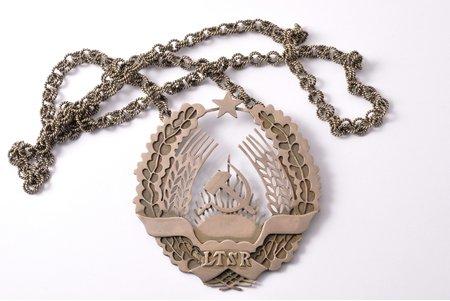 judge's livery collar, LTSR (Lithuanian Soviet Socialist Republic), USSR, Lithuania, (chain) 82 cm, (total) 97.75 g