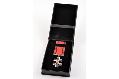 order, Order of the Cross of Vytis (Knight's Cross), in an original case, silver, Lithuania, beginning of 21st cent., 47.6 x 27 mm