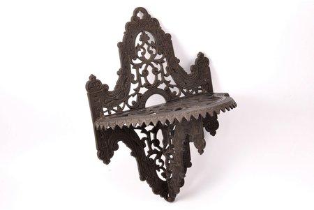 decorative shelf, A. Mochalin, cast iron, 32.7 x 24 x 15 cm, weight 1500 g., Russia, Kasli, 1886